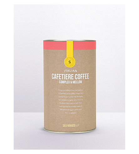 SELFRIDGES SELECTION Italian Complex & Smooth coffee carton