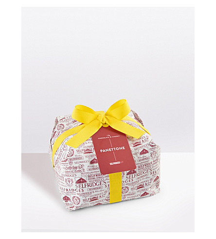 SELFRIDGES SELECTION Wrapped chocolate and cherry panettone 1kg