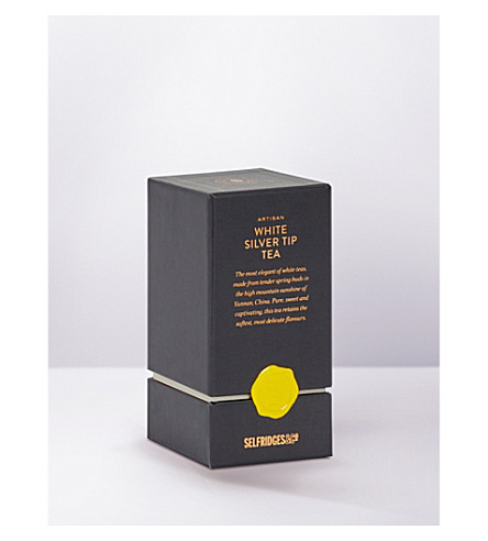 SELFRIDGES SELECTION Artisan white silver tip tea 25g