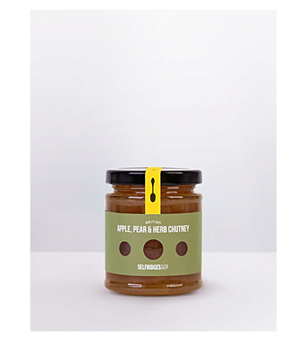 SELFRIDGES SELECTION British Apple Pear & Herb chutney 220g