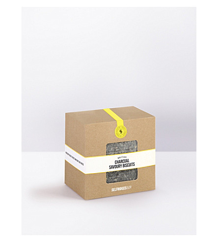 SELFRIDGES SELECTION British Charcoal savoury biscuits 130g
