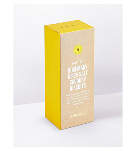 SELFRIDGES SELECTION British Rosemary Sea Salt savoury biscuits 110g