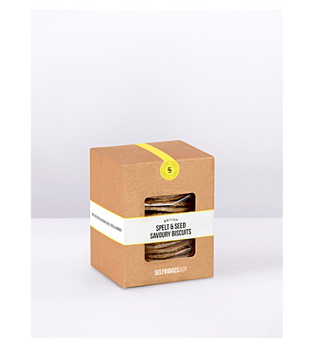 SELFRIDGES SELECTION British Spelt & Seed savoury biscuits 130g
