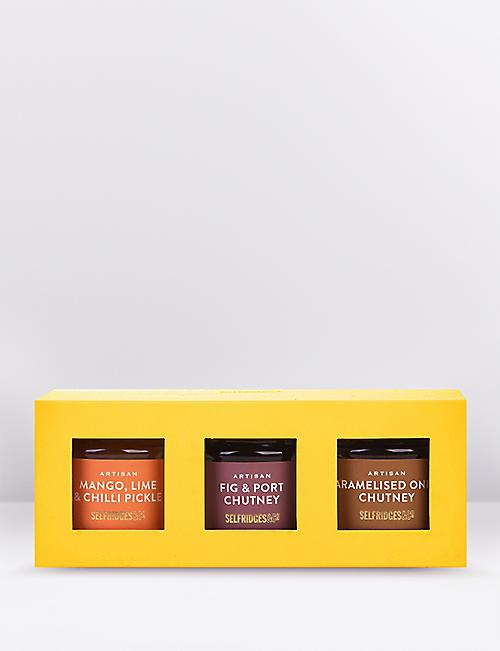 SELFRIDGES SELECTION Mini condiments trio 330g
