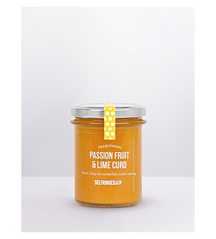 SELFRIDGES SELECTION Traditional passionfruit and lime curd 230g