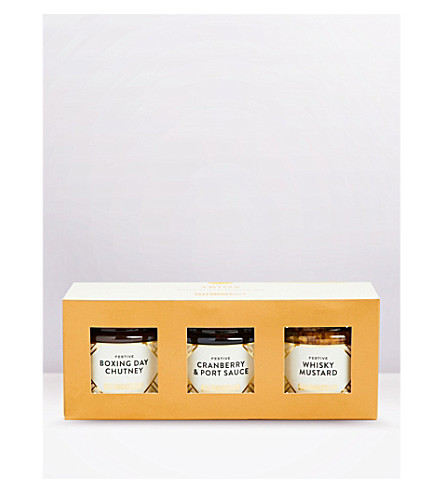 SELFRIDGES SELECTION Festive Condiments Trio gift pack