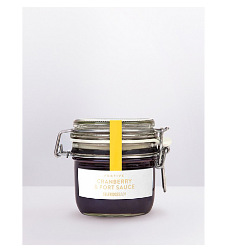SELFRIDGES SELECTION Cranberry, Port & Orange sauce 220g
