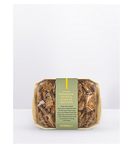 SELFRIDGES SELECTION Artisan parmesan, olive and almond nibbles 120g