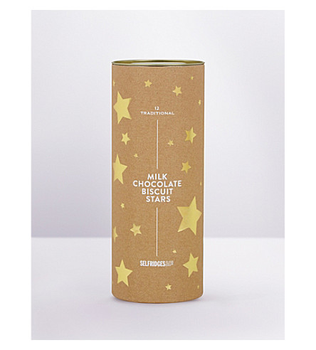 SELFRIDGES SELECTION Milk chocolate star biscuits 200g