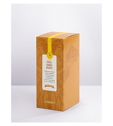 SELFRIDGES SELECTION Toffee crunch biscuits 200g