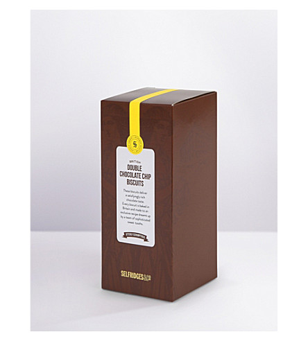 SELFRIDGES SELECTION Double chocolate chip biscuits 190g