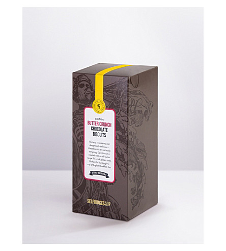 SELFRIDGES SELECTION Butter crunch milk chocolate cookies 300g