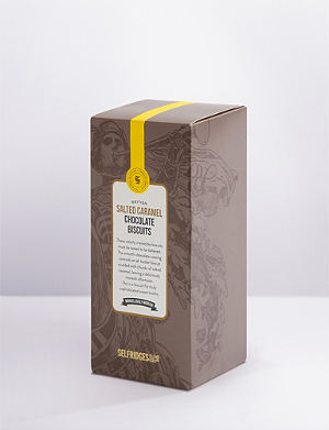 SELFRIDGES SELECTION Salted caramel milk chocolate biscuits 300g