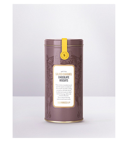 SELFRIDGES SELECTION British salted caramel chocolate biscuits