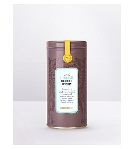 SELFRIDGES SELECTION British stem ginger chocolate biscuits