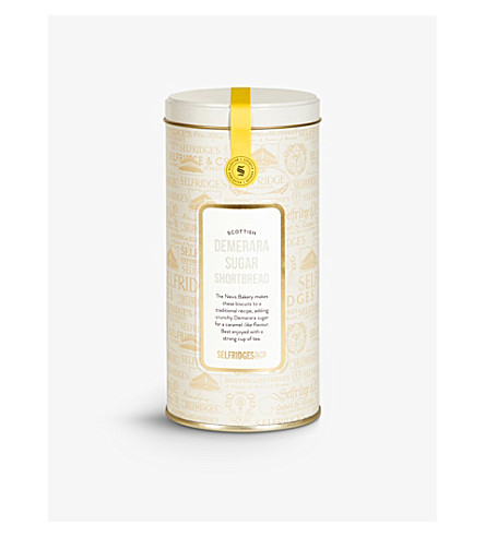 SELFRIDGES SELECTION Selfridges demerara sugar shortbread tin