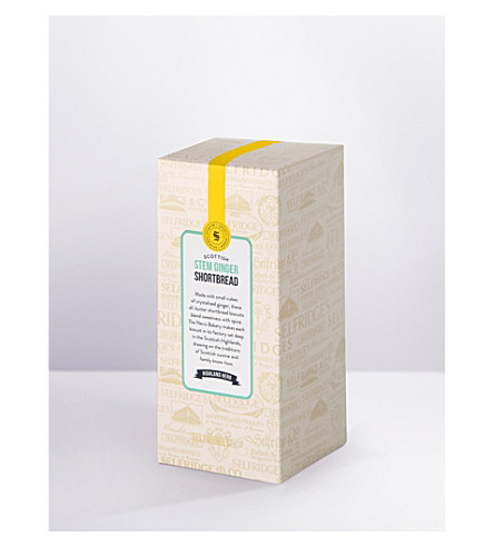 SELFRIDGES SELECTION Stem ginger shortbread 250g