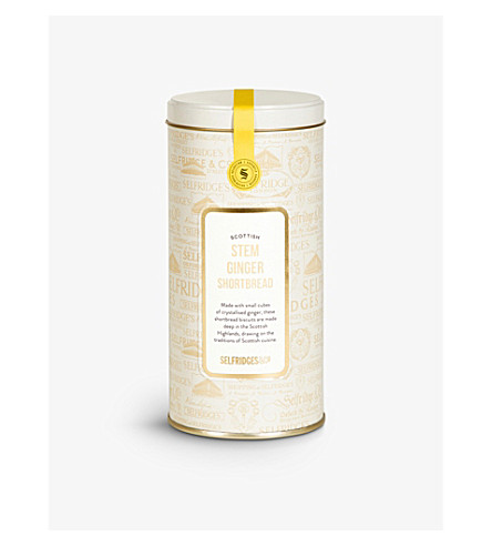 SELFRIDGES SELECTION Stem ginger shortbread tin