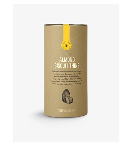 SELFRIDGES SELECTION Almond biscuit thins 115g