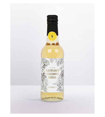 SELFRIDGES SELECTION Elderflower & cucumber cordial 330ml
