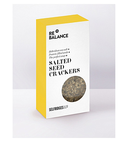 SELFRIDGES SELECTION Salted seed crackers 80g