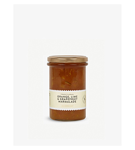 CONDIMENTS & PRESERVES Three fruits marmalade 340g