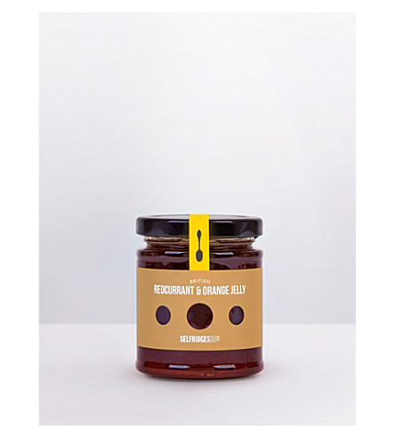 SELFRIDGES SELECTION British Redcurrant & Orange jelly 180g