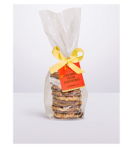 SELFRIDGES SELECTION Speciality mini dark chocolate & orange florentines