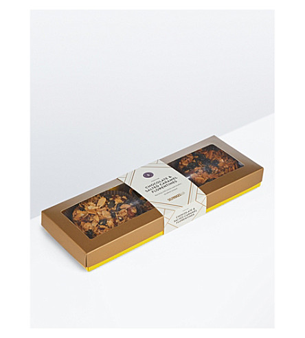 SELFRIDGES SELECTION Milk chocolate salted caramel giant florentines