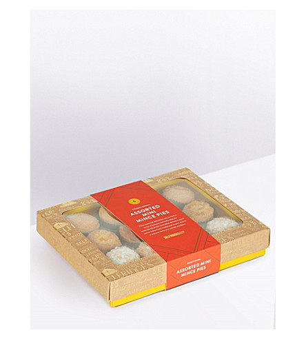 SELFRIDGES SELECTION Assorted mini flavoured mince pies pack of 12