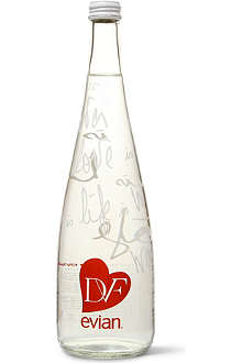 EVIAN Limited Edition DVF bottle 750ml
