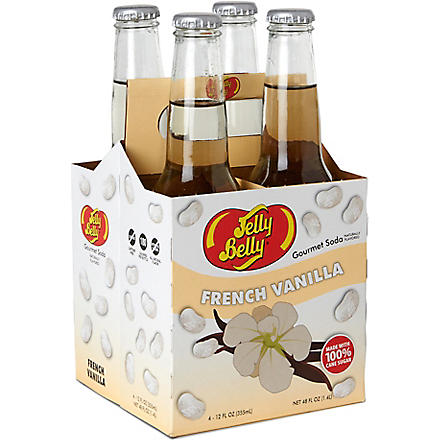 JELLY BELLY Pack of four French Vanilla soft drinks 355ml