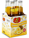 JELLY BELLY Pack of four Crushed Pineapple soft drinks 355ml
