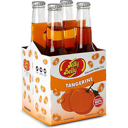JELLY BELLY Pack of four Tangerine soft drinks 355ml