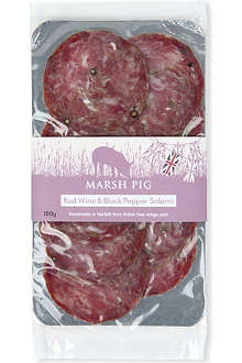 MARSH PIG Red Wine & Black Pepper salami 100g