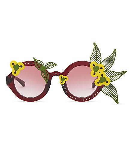 A V ROBERTSON Avr1 round-frame sunglasses (Red
