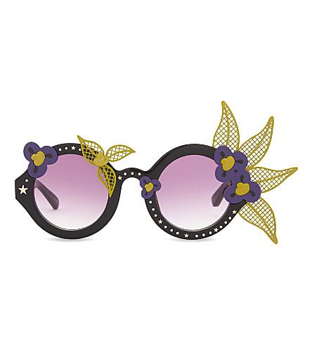 A V ROBERTSON Avr1 round-frame sunglasses (Black