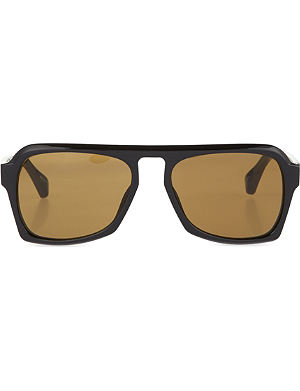 DRIES VAN NOTEN Black acetate sunglasses