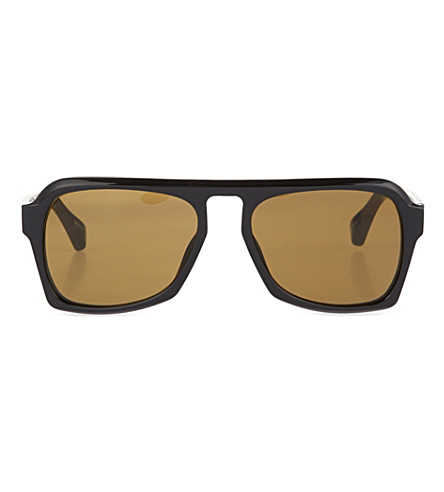 DRIES VAN NOTEN Black acetate sunglasses (Black & brown