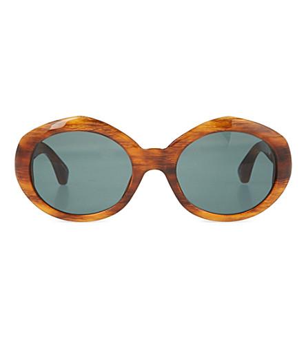DRIES VAN NOTEN Tortoiseshell acetate sunglasses (Amber tortoiseshell