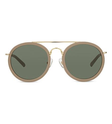 DRIES VAN NOTEN DVN52 round sunglasses (Sand+&+gold