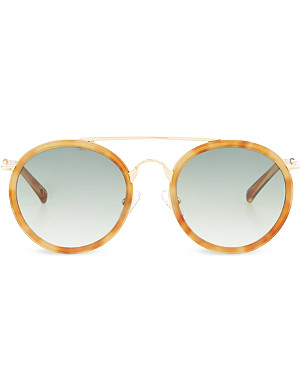 DRIES VAN NOTEN Light tortoiseshell acetate sunglasses
