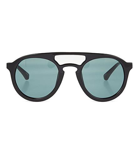 DRIES VAN NOTEN Black acetate sunglasses (Black