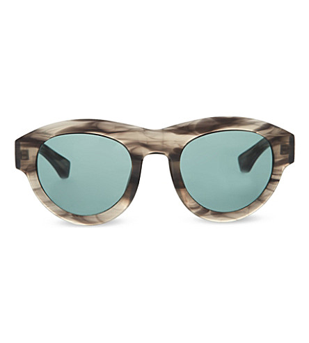 DRIES VAN NOTEN DVN66 round sunglasses (Striped horn