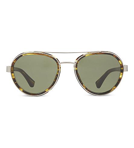 DRIES VAN NOTEN DVN82 aviator sunglasses (Yellow+&+silver