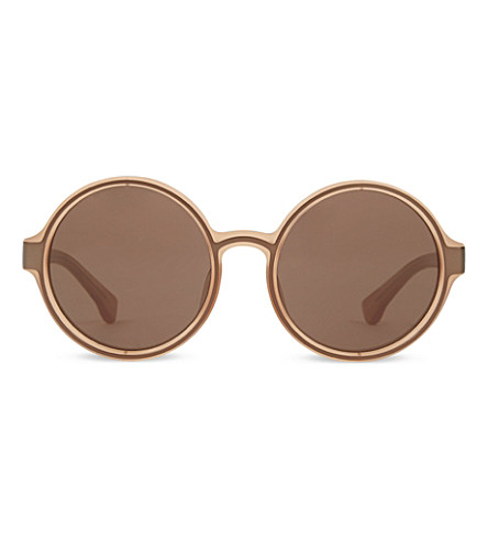 DRIES VAN NOTEN DVN83 round sunglasses (Orange+&+copper