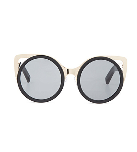 ERDEM Gold corner sunglasses (Black