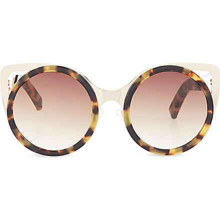 ERDEM Extended cat-eye sunglasses (Tortoiseshell