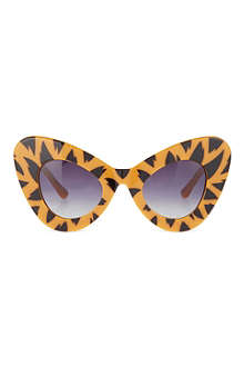 JEREMY SCOTT Tiger print cat-eye sunglasses