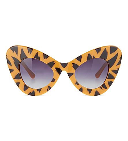 JEREMY SCOTT Tiger print cat-eye sunglasses (Tiger+print